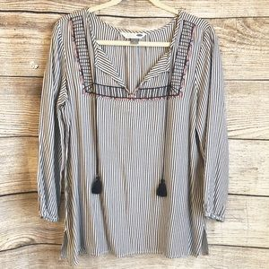OLD NAVY Striped Tunic with Tassels. NWOT!